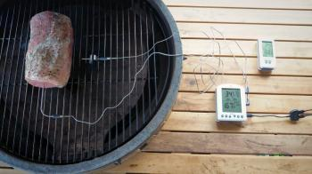 ThermoWorks Smoke X-sondethermometer en Billows-ventilatoroverzicht